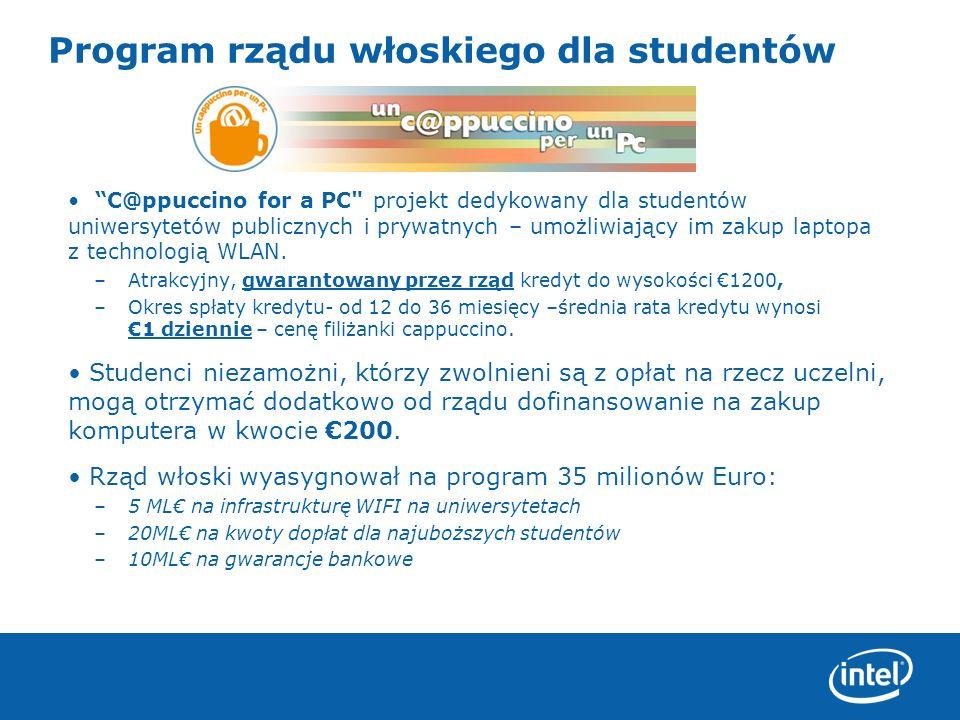 Program rządu włoskiego dla studentów
