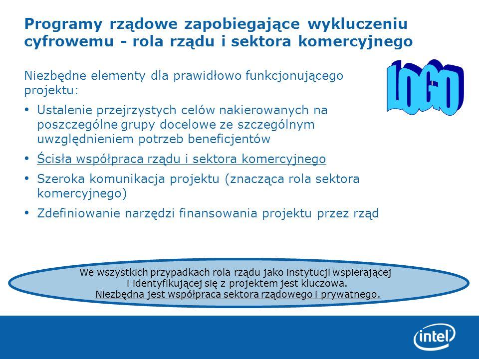 Programy rządowe zapobiegające wykluczeniu cyfrowemu - rola rządu i sektora komercyjnego
