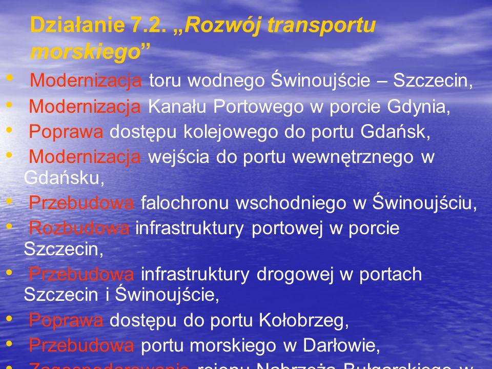 """Działanie 7.2. """"Rozwój transportu morskiego"""