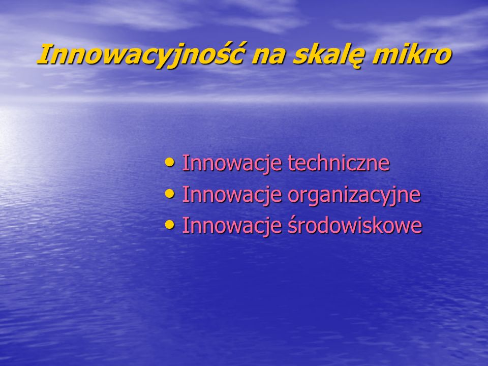 Innowacyjność na skalę mikro