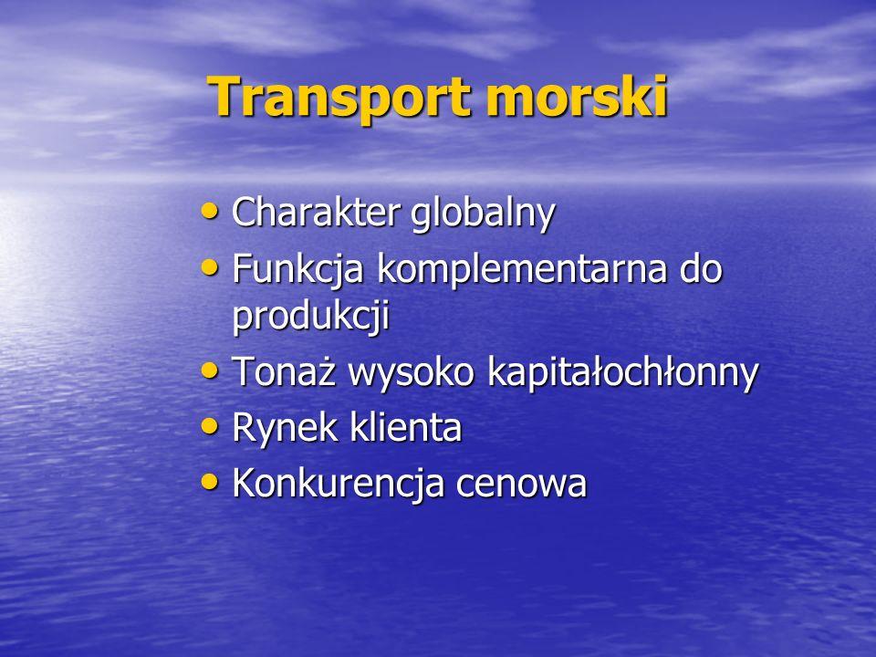 Transport morski Charakter globalny