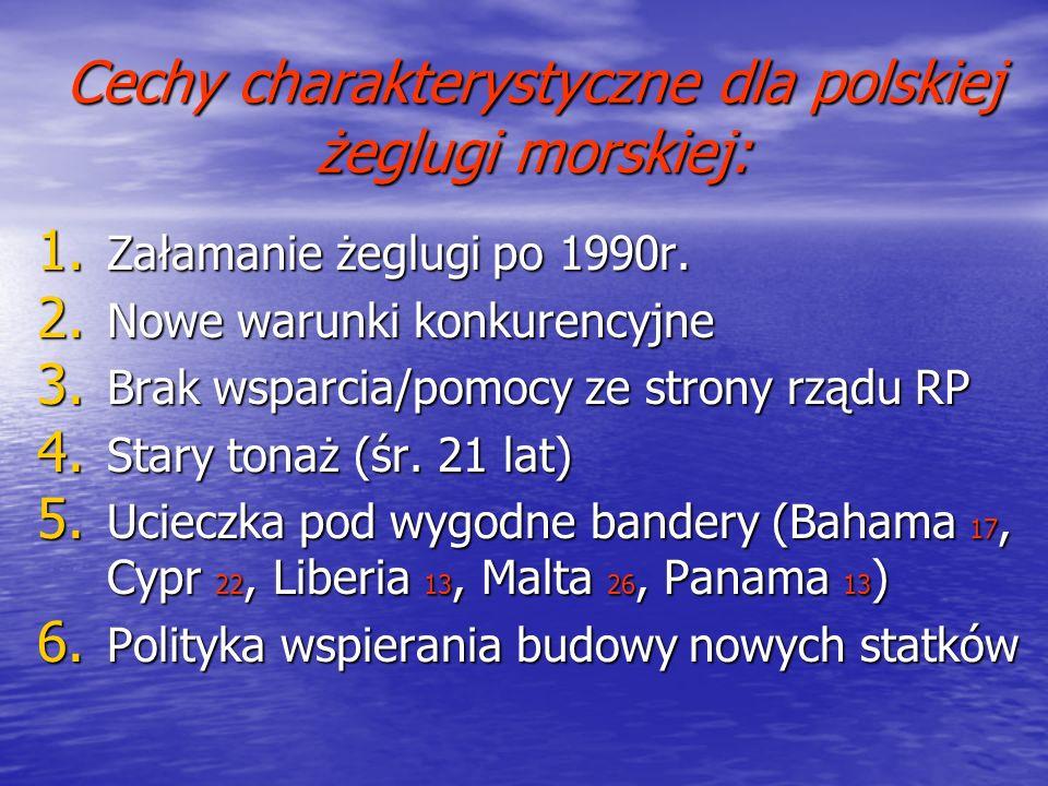 Cechy charakterystyczne dla polskiej żeglugi morskiej: