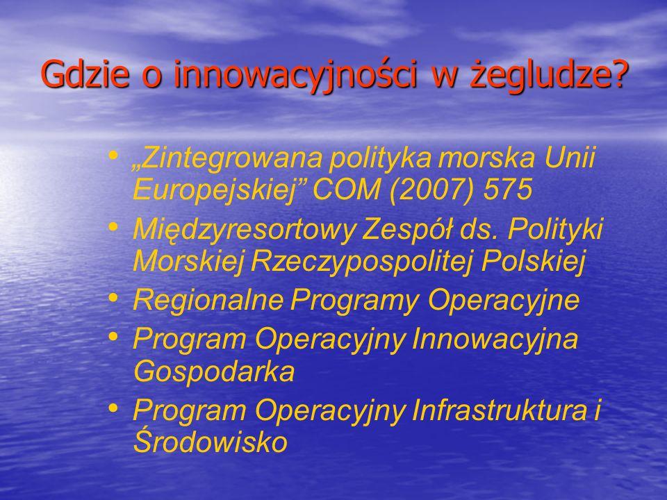 Gdzie o innowacyjności w żegludze