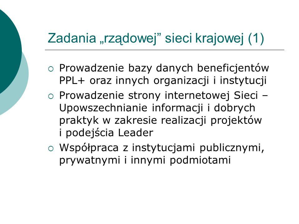 """Zadania """"rządowej sieci krajowej (1)"""