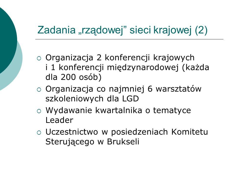 """Zadania """"rządowej sieci krajowej (2)"""