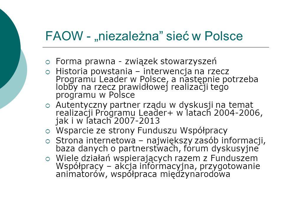 """FAOW - """"niezależna sieć w Polsce"""