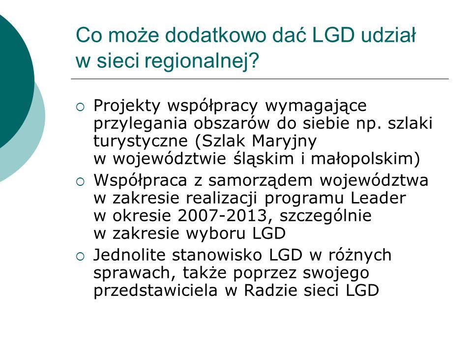 Co może dodatkowo dać LGD udział w sieci regionalnej