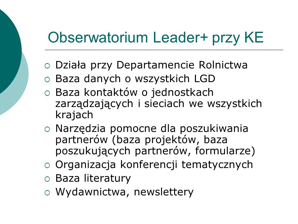 Obserwatorium Leader+ przy KE