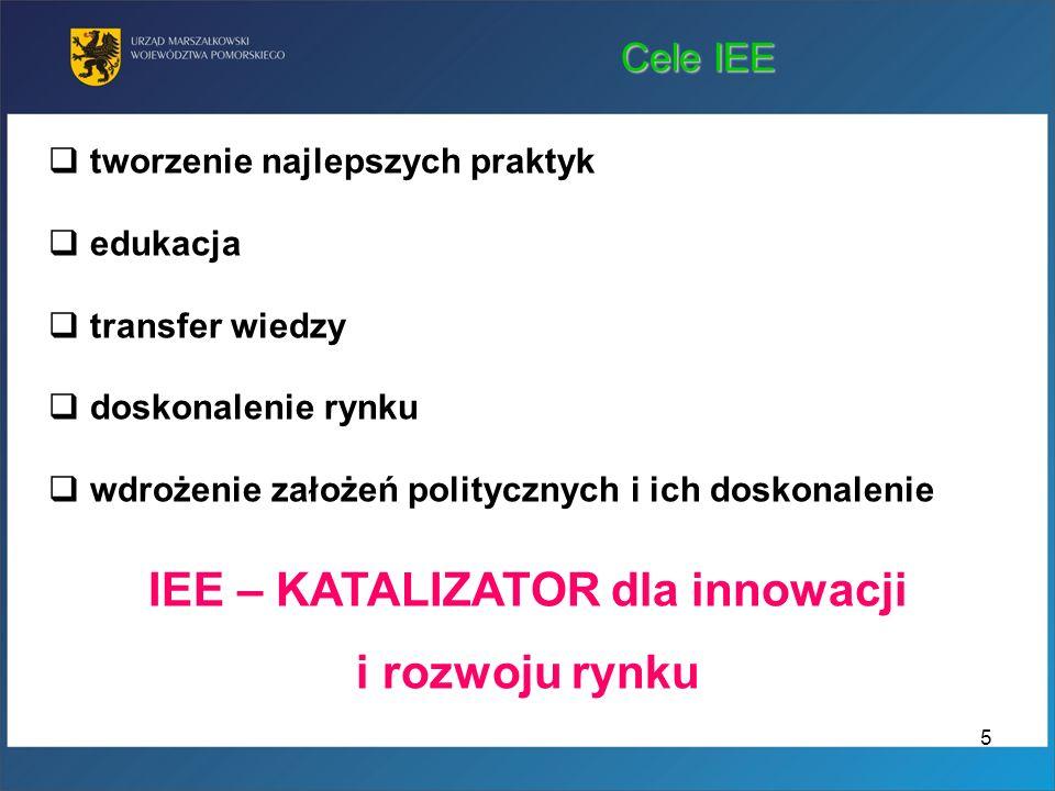 IEE – KATALIZATOR dla innowacji i rozwoju rynku