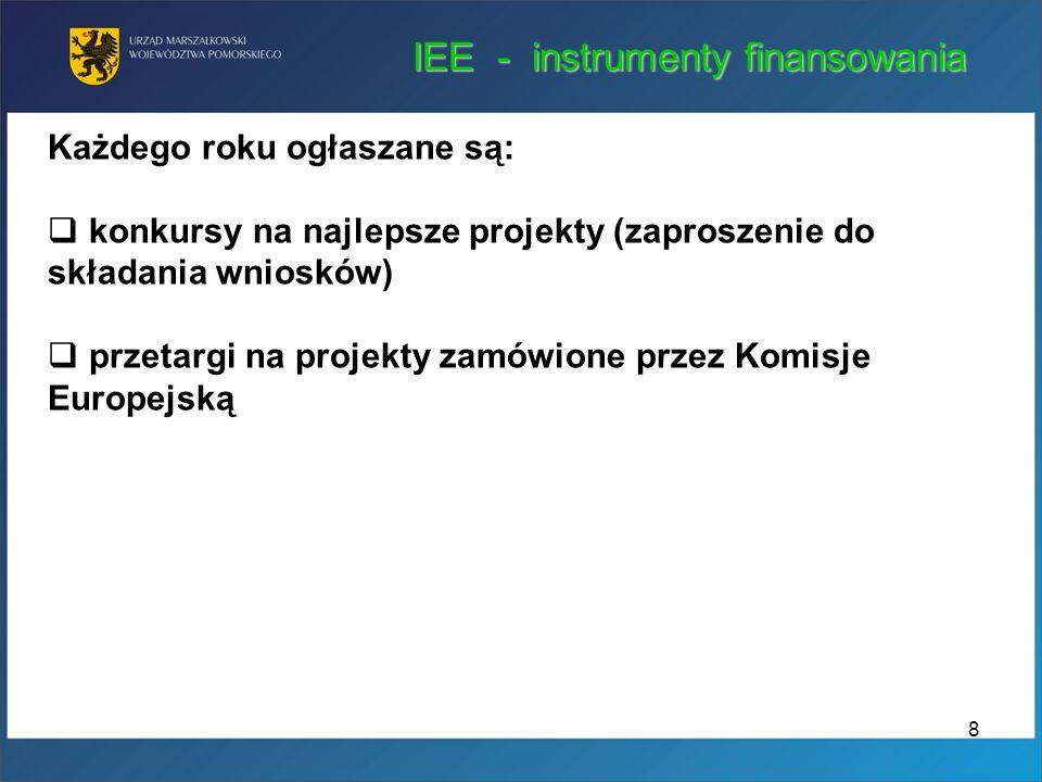 IEE - instrumenty finansowania