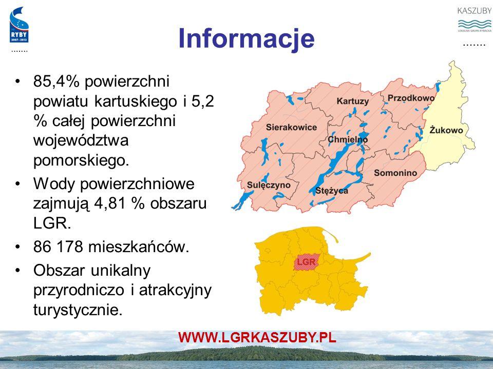 Informacje 85,4% powierzchni powiatu kartuskiego i 5,2 % całej powierzchni województwa pomorskiego.
