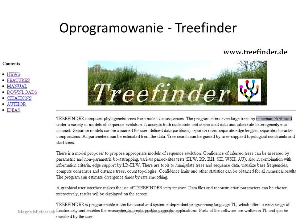 Oprogramowanie - Treefinder