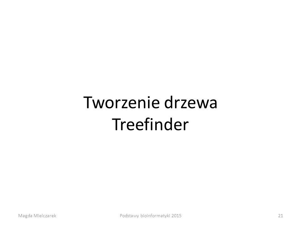 Tworzenie drzewa Treefinder