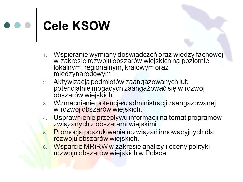 Cele KSOW