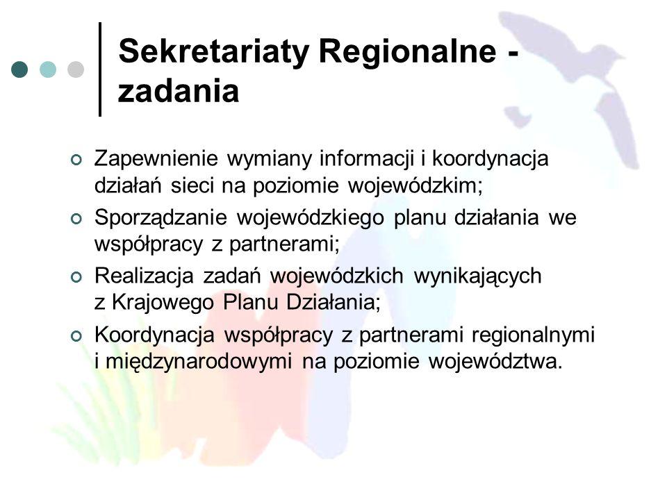 Sekretariaty Regionalne - zadania
