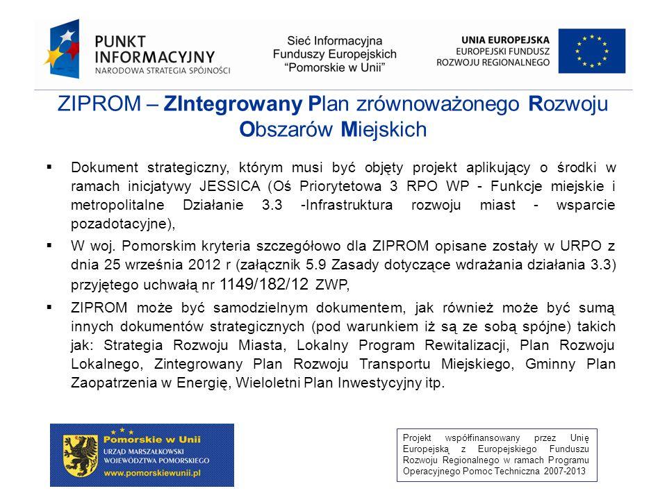 ZIPROM – ZIntegrowany Plan zrównoważonego Rozwoju Obszarów Miejskich
