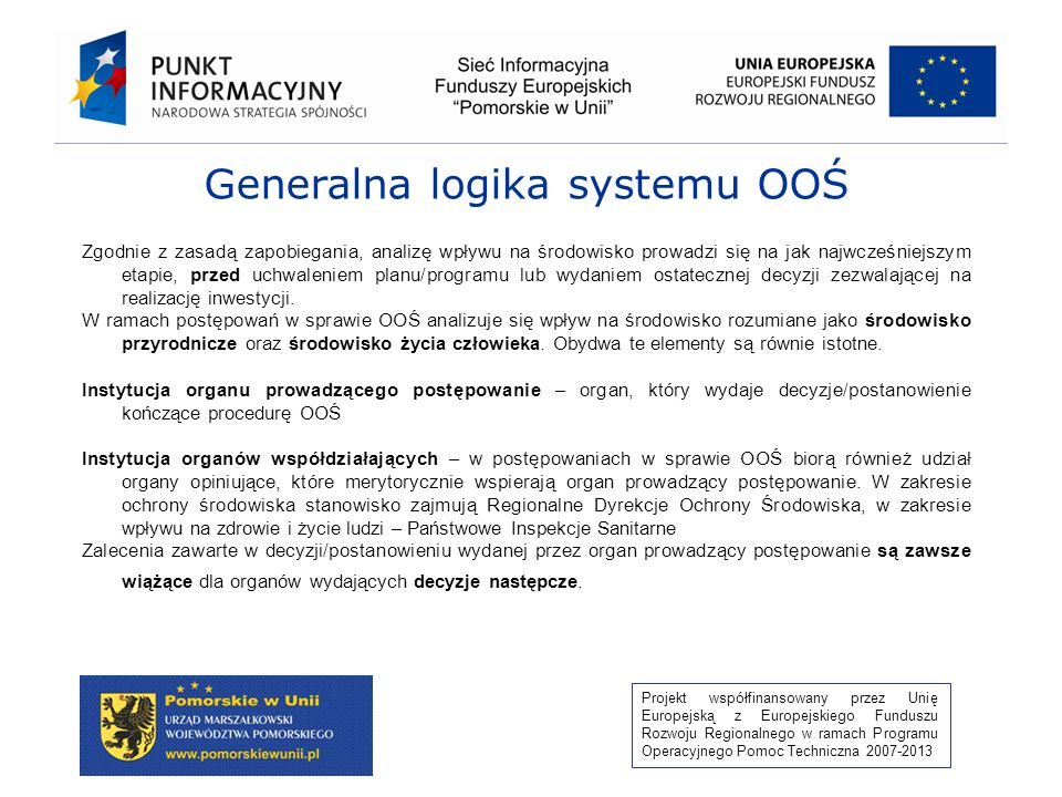 Generalna logika systemu OOŚ