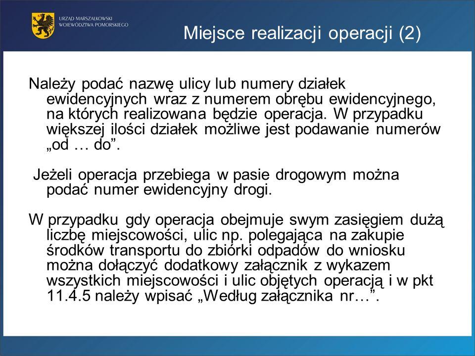 Miejsce realizacji operacji (2)