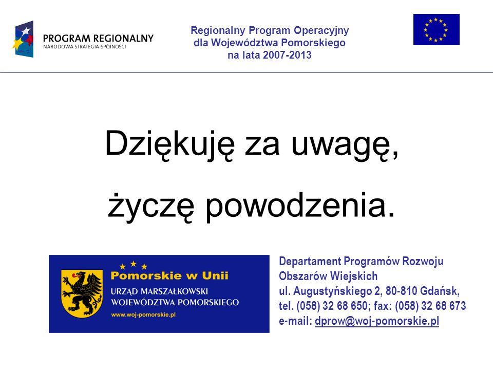 Regionalny Program Operacyjny dla Województwa Pomorskiego
