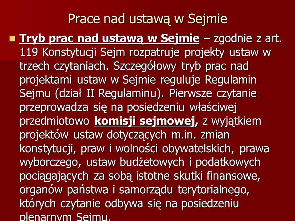 Prace nad ustawą w Sejmie