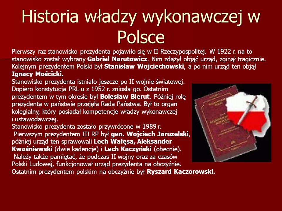 Historia władzy wykonawczej w Polsce
