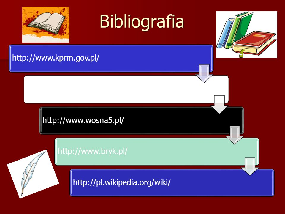 Bibliografia http://www.kprm.gov.pl/