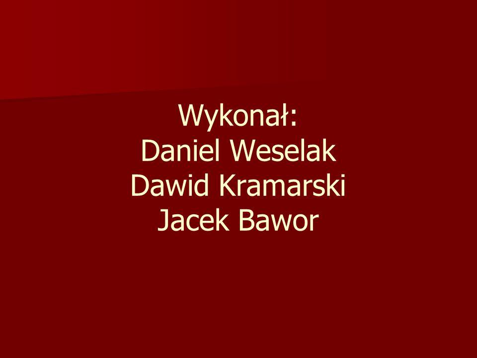 Wykonał: Daniel Weselak Dawid Kramarski Jacek Bawor