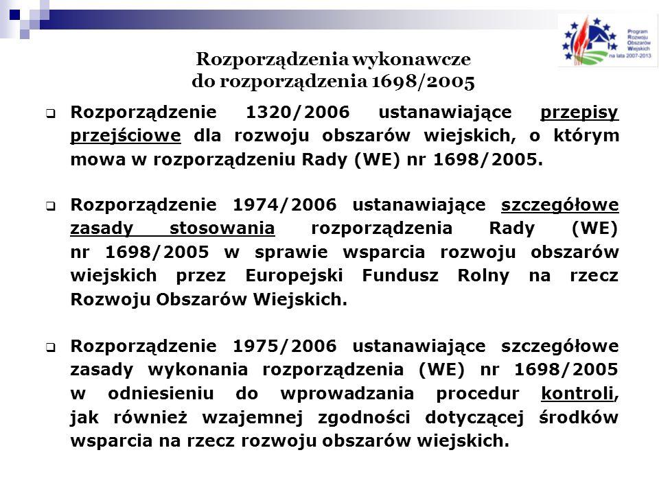 Rozporządzenia wykonawcze do rozporządzenia 1698/2005