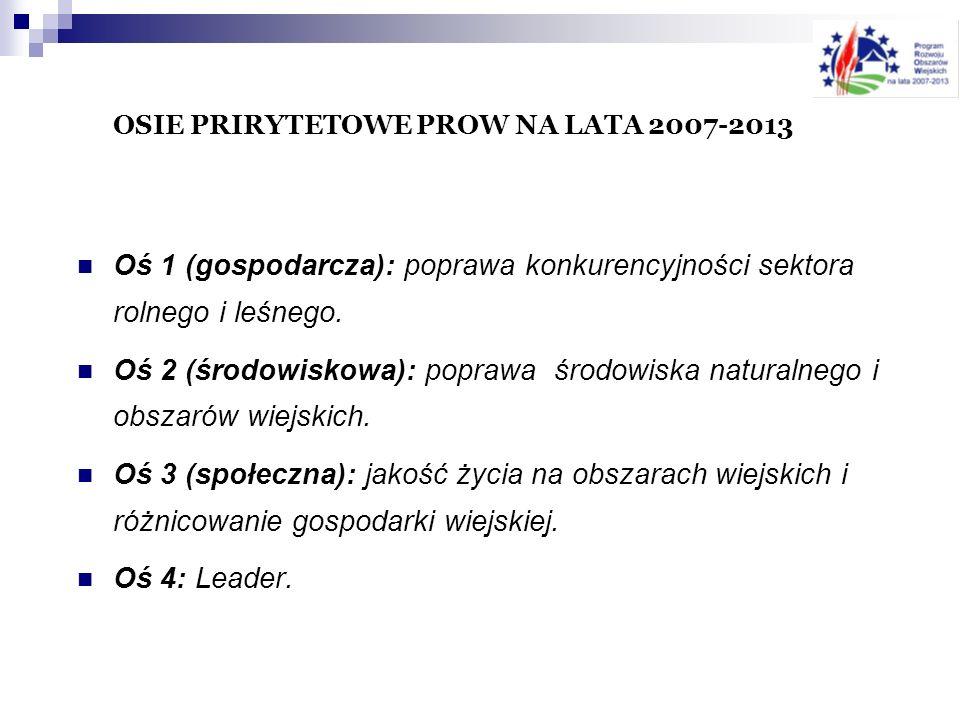 OSIE PRIRYTETOWE PROW NA LATA 2007-2013