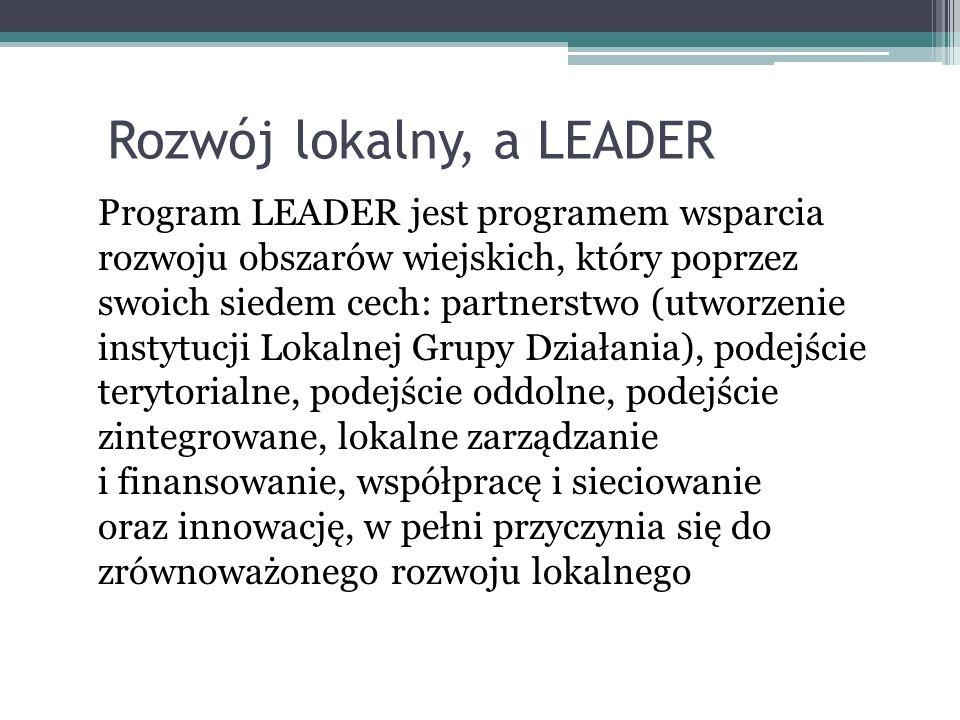 Rozwój lokalny, a LEADER
