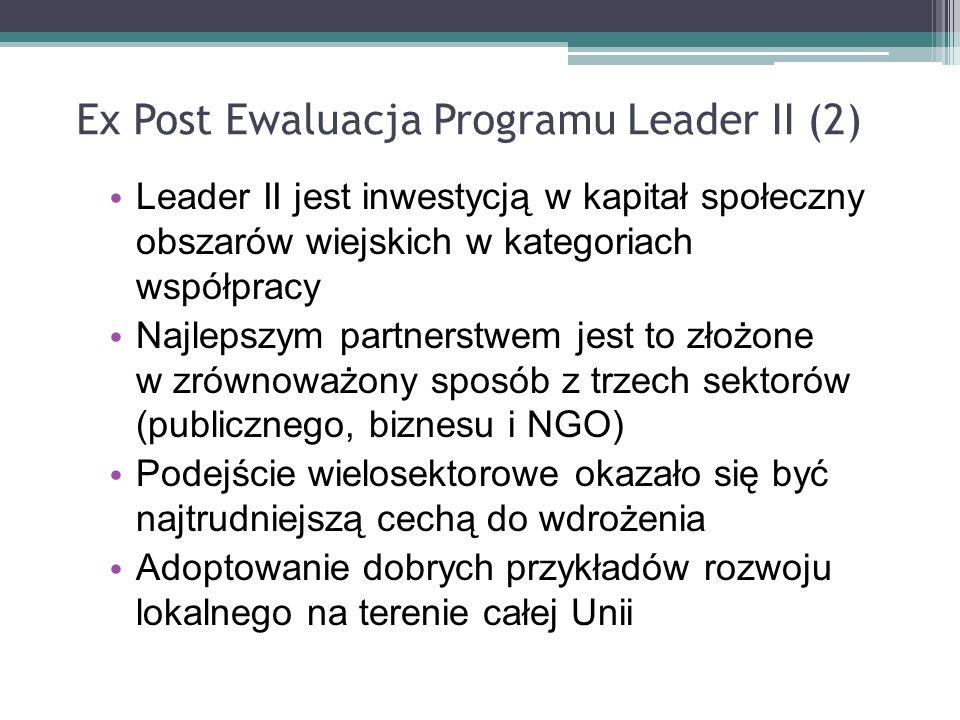 Ex Post Ewaluacja Programu Leader II (2)