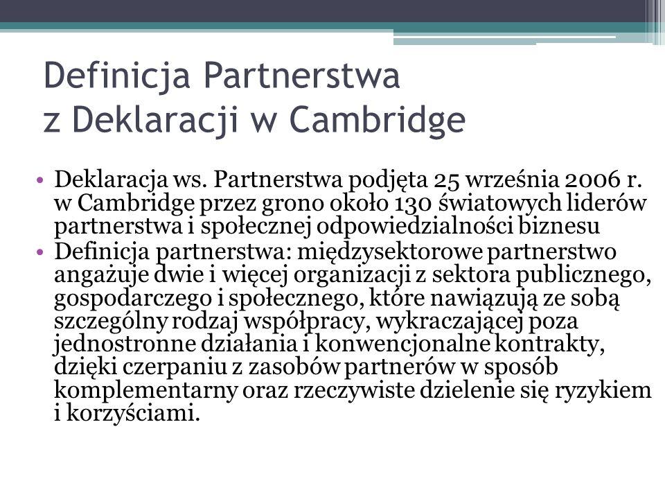 Definicja Partnerstwa z Deklaracji w Cambridge