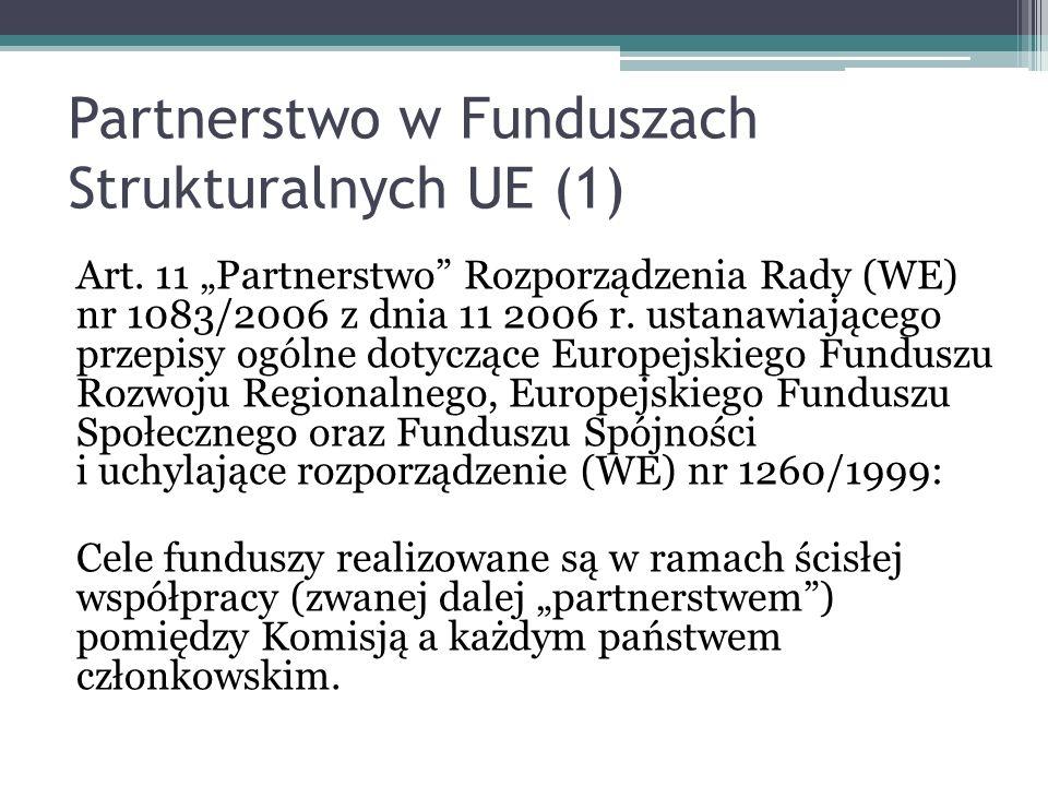 Partnerstwo w Funduszach Strukturalnych UE (1)