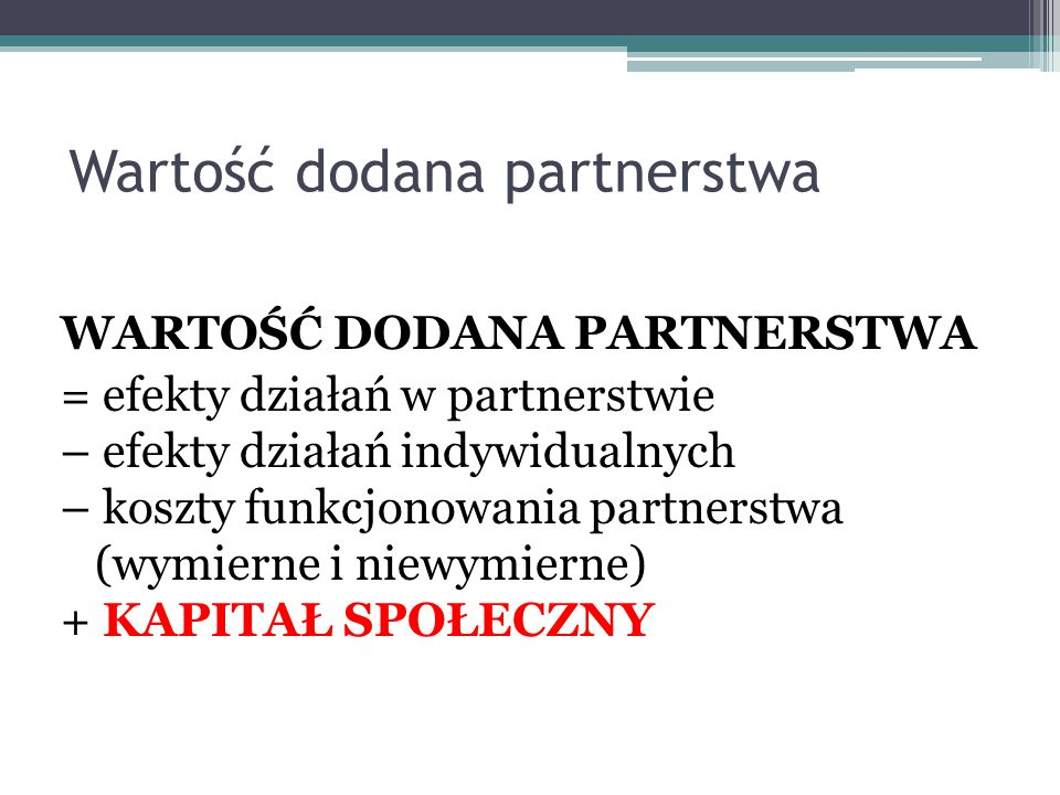 Wartość dodana partnerstwa