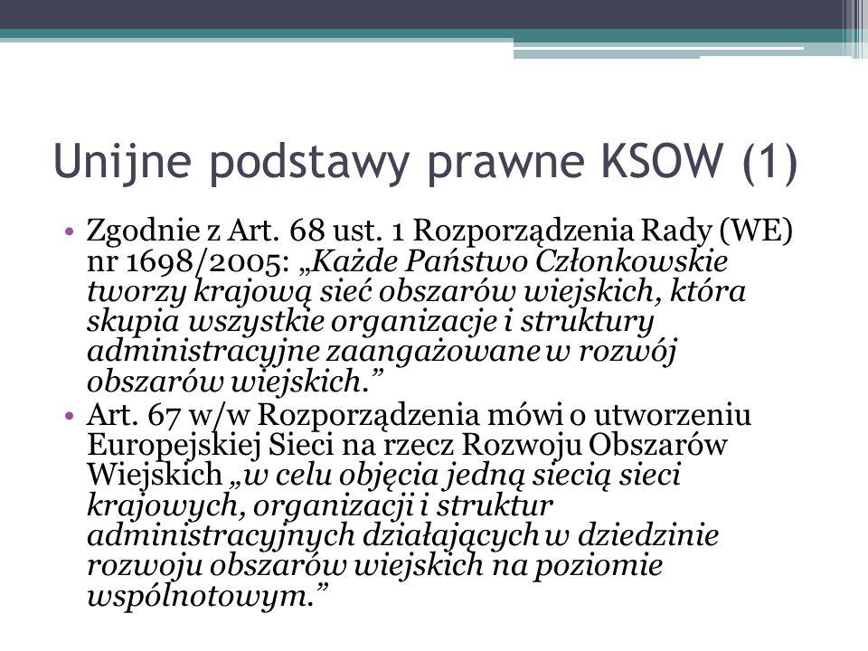 Unijne podstawy prawne KSOW (1)