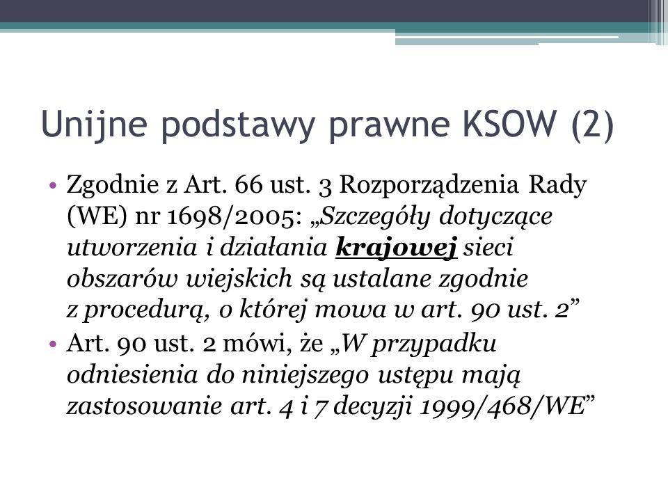 Unijne podstawy prawne KSOW (2)