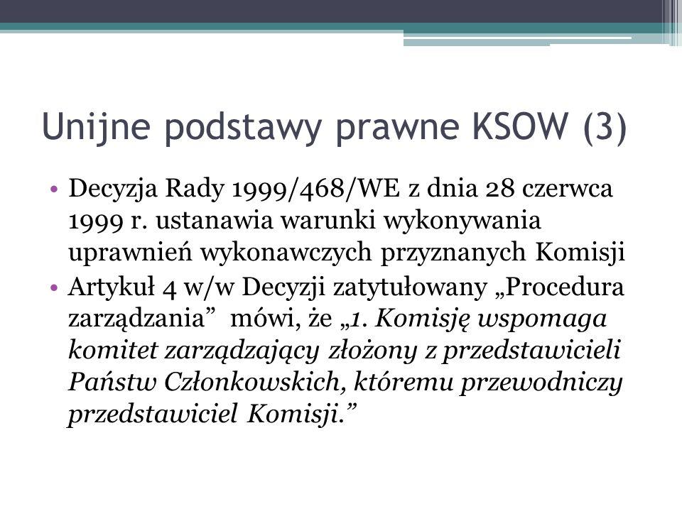 Unijne podstawy prawne KSOW (3)