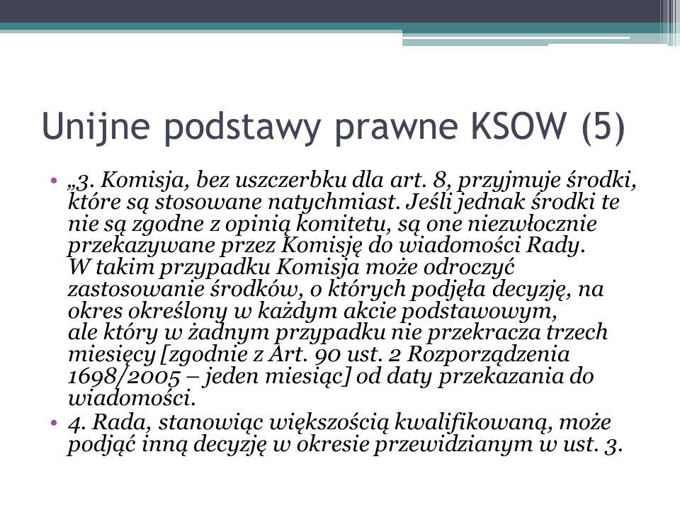 Unijne podstawy prawne KSOW (5)