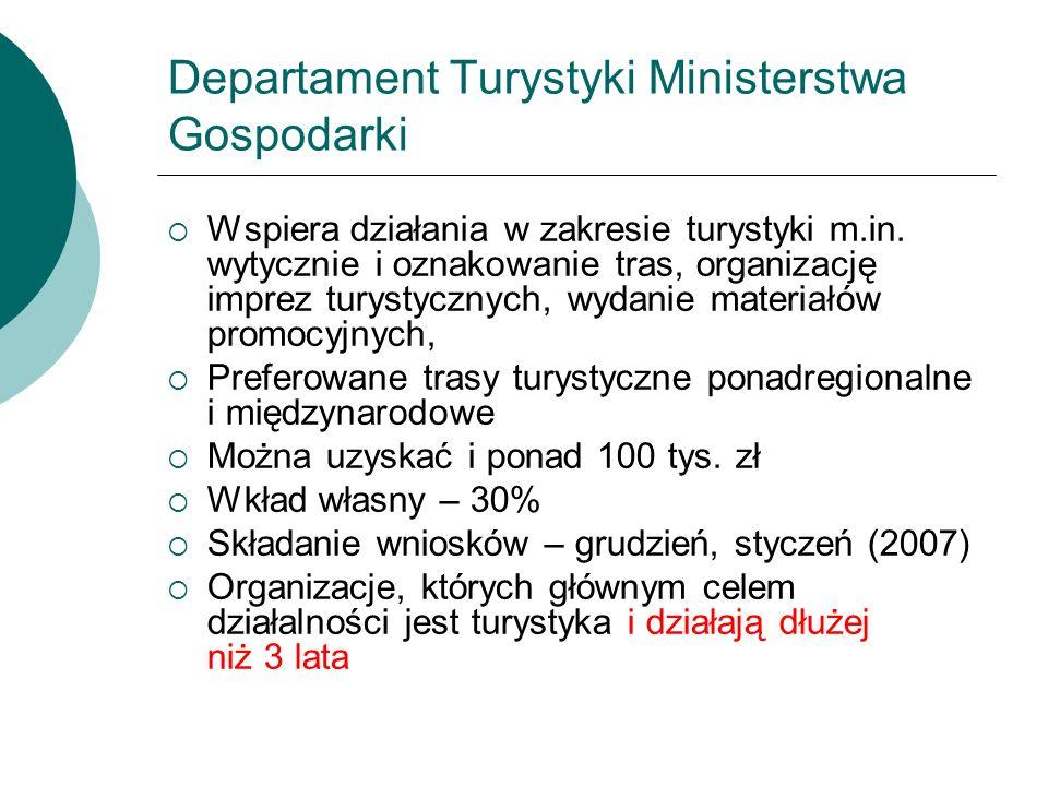 Departament Turystyki Ministerstwa Gospodarki