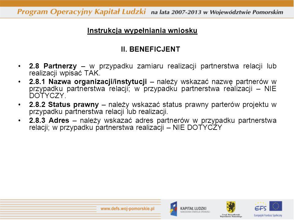 Instrukcja wypełniania wniosku