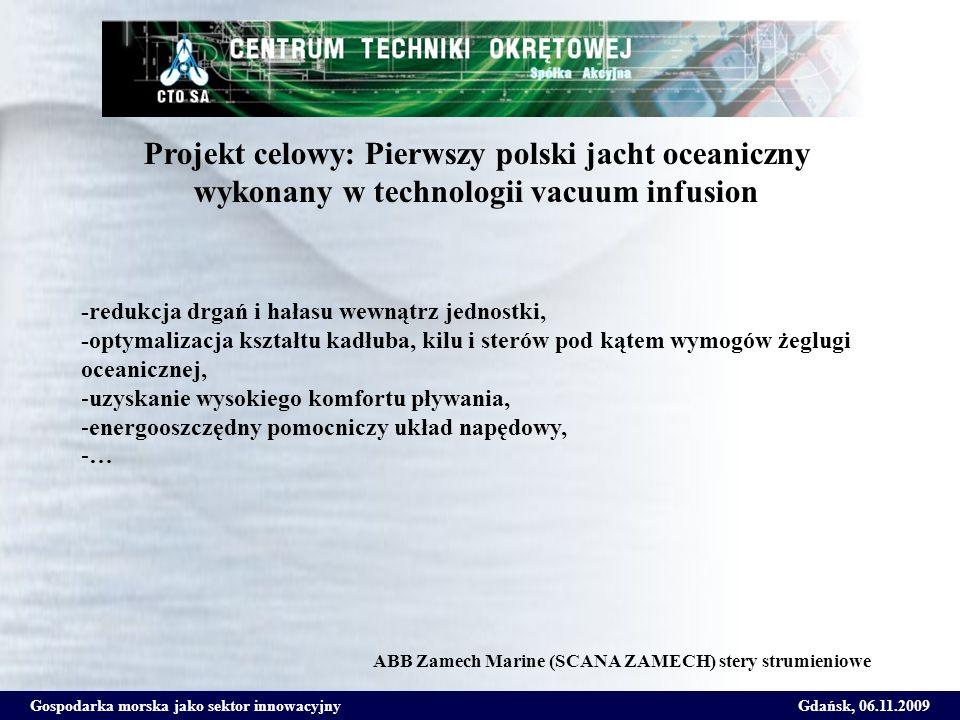 Projekt celowy: Pierwszy polski jacht oceaniczny wykonany w technologii vacuum infusion