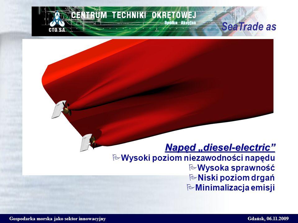 """SeaTrade as Napęd """"diesel-electric Wysoki poziom niezawodności napędu"""