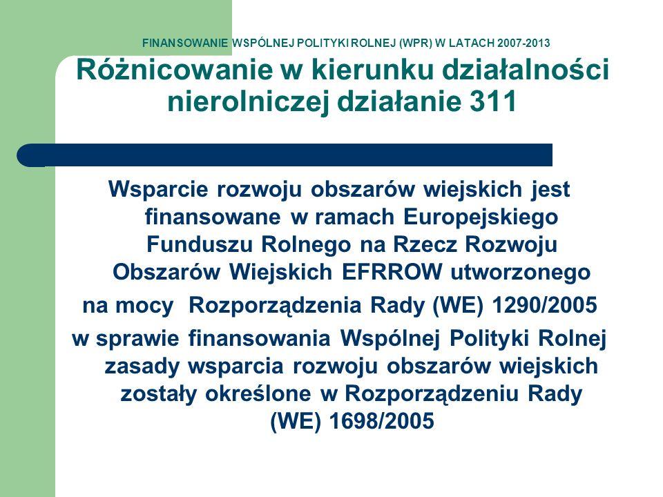 na mocy Rozporządzenia Rady (WE) 1290/2005