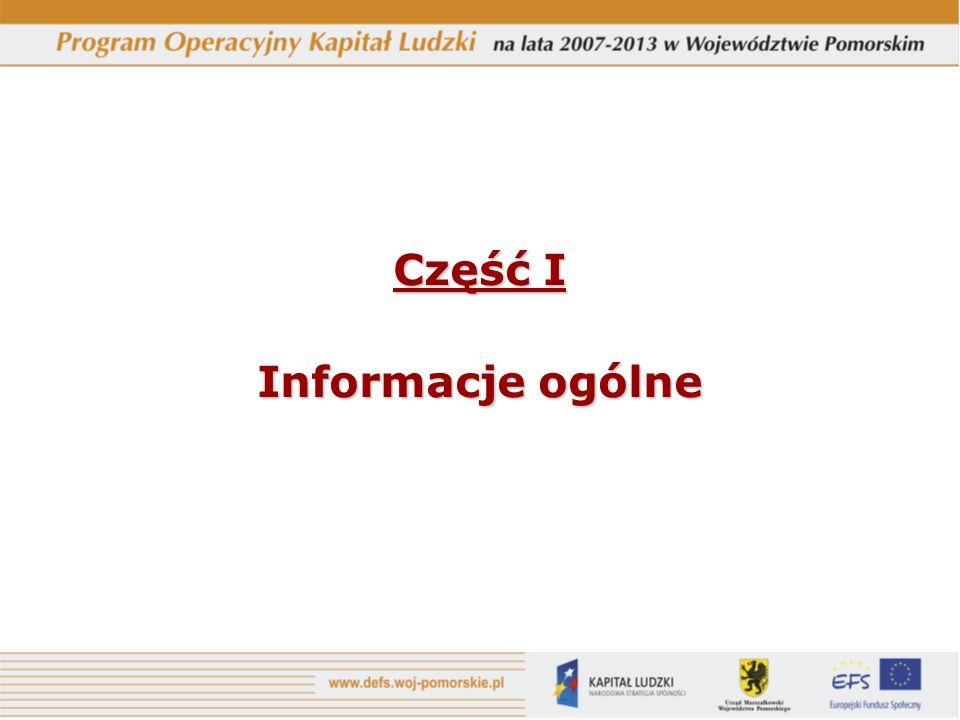 Część I Informacje ogólne