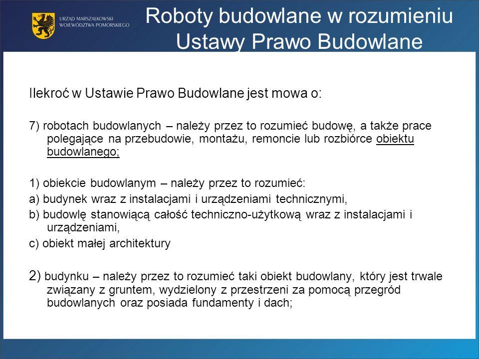 Roboty budowlane w rozumieniu Ustawy Prawo Budowlane