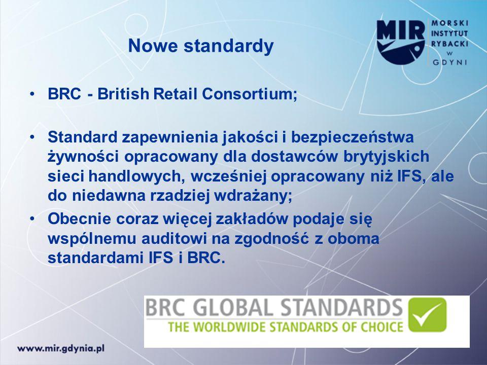 Nowe standardy BRC - British Retail Consortium;
