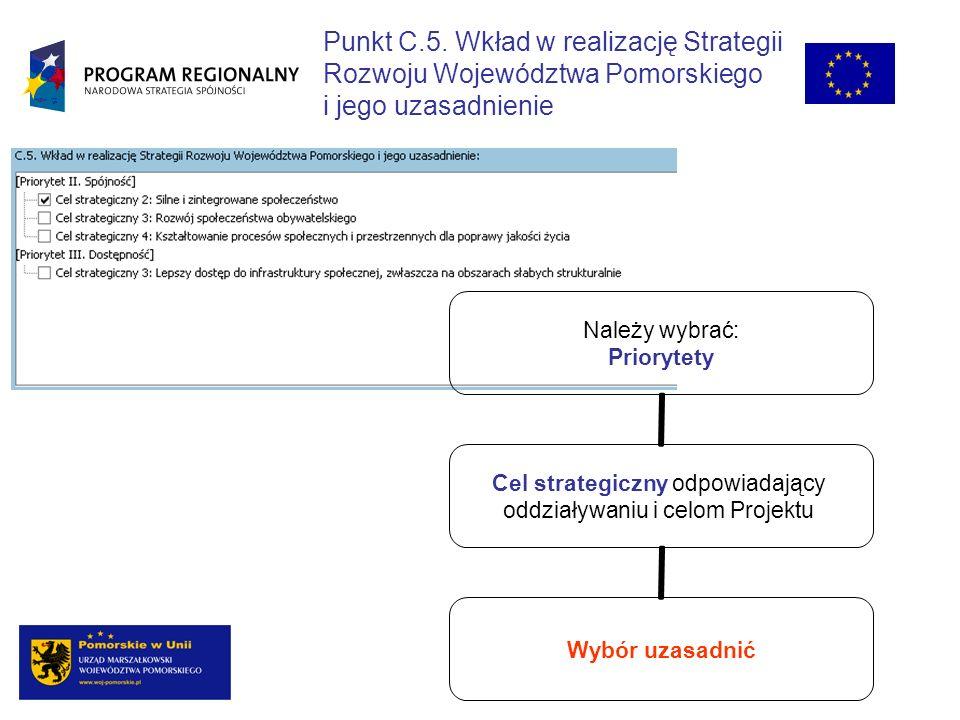 Punkt C.5. Wkład w realizację Strategii
