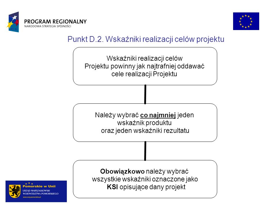 Punkt D.2. Wskaźniki realizacji celów projektu