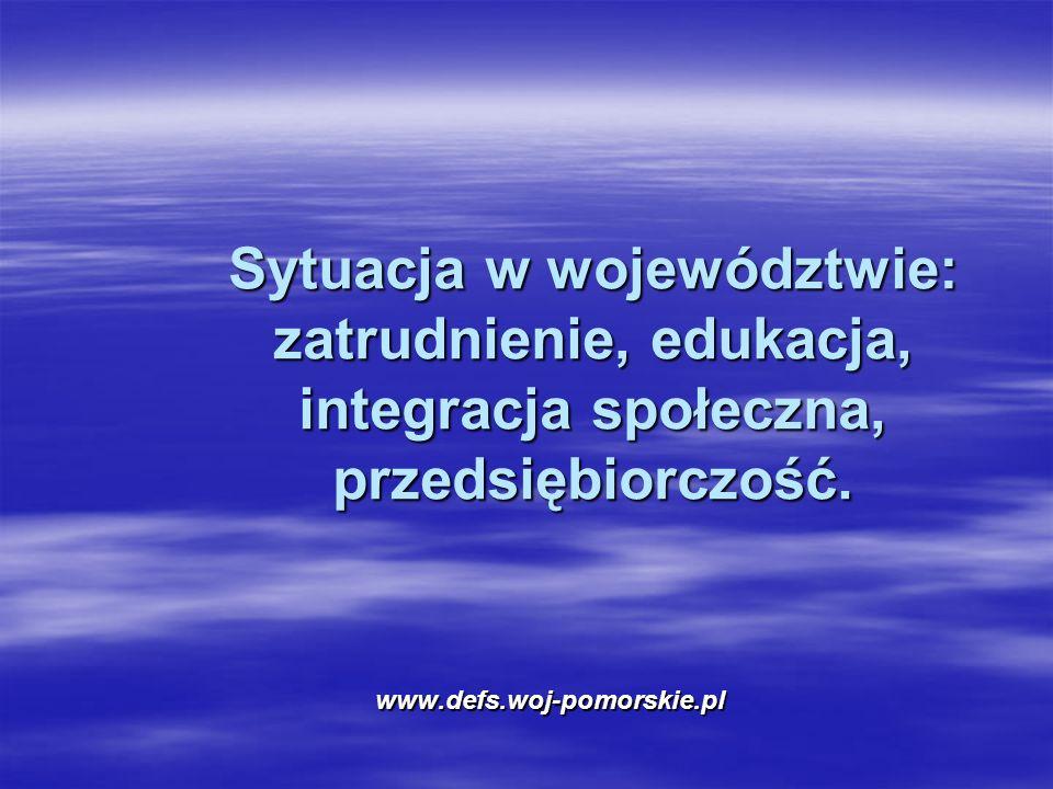 Sytuacja w województwie: zatrudnienie, edukacja, integracja społeczna, przedsiębiorczość.