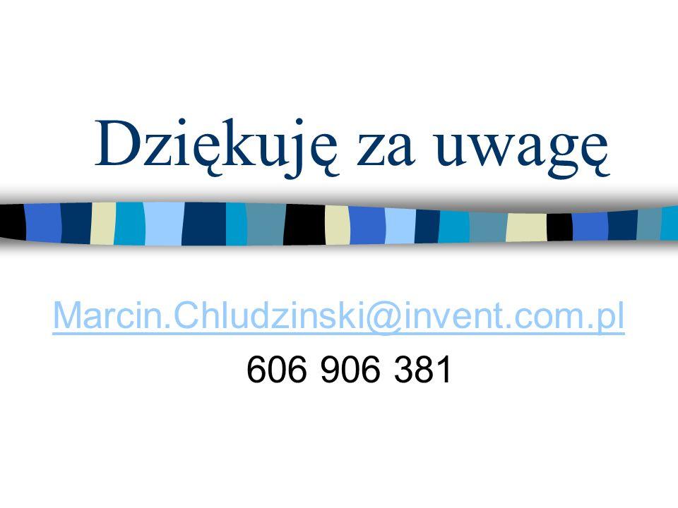 Marcin.Chludzinski@invent.com.pl 606 906 381
